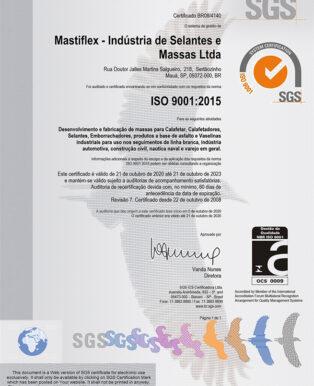 Mastiflex - Empresa Certificada ISO